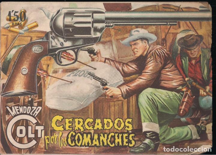 MENDOZA COLT Nº 20: CERCADOS POR LOS COMANCHES (Tebeos y Comics - Rollán - Mendoza Colt)