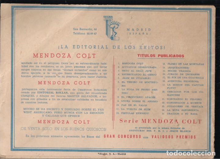 Tebeos: MENDOZA COLT Nº 25: TRAIDOR A SU RAZA - Foto 2 - 235143820