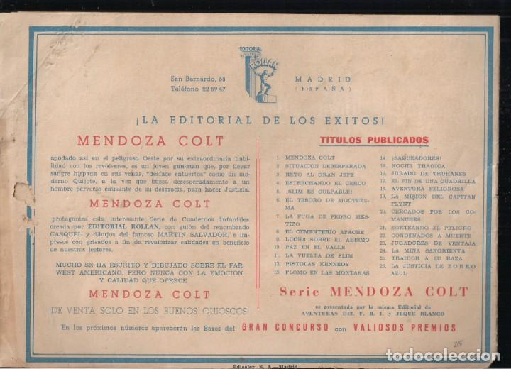 Tebeos: MENDOZA COLT Nº 26: LA JUSTICIA DE ZORRO AZUL - Foto 2 - 235144305