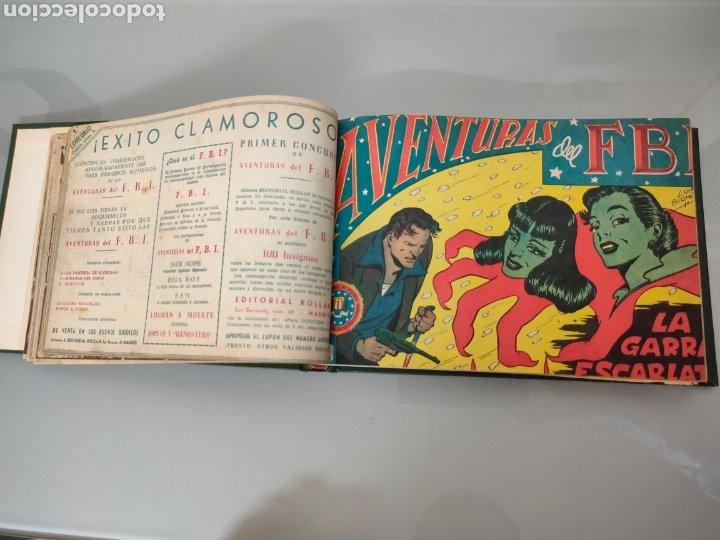 Tebeos: AVENTURAS DEL FBI Vol. ENCUADERNADO 1951 N° 1 AL 40 ROLLAN - Foto 3 - 251532325