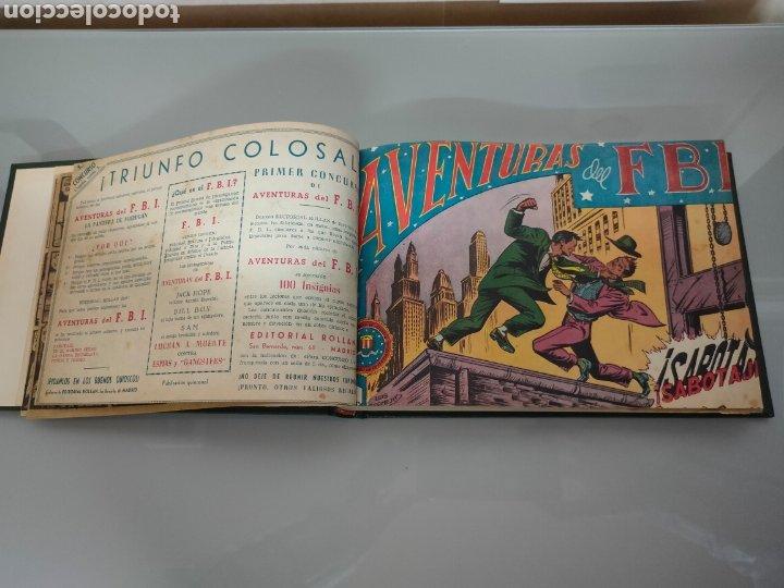 Tebeos: AVENTURAS DEL FBI Vol. ENCUADERNADO 1951 N° 1 AL 40 ROLLAN - Foto 8 - 251532325