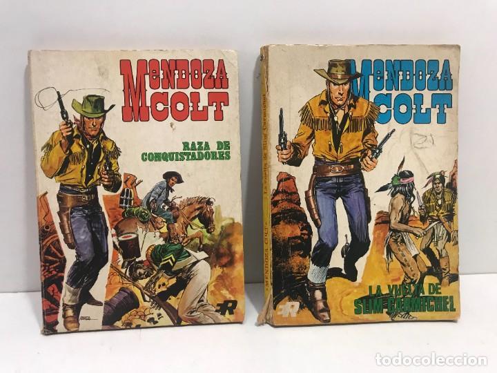 LOTE 2 COMICS MENDOZA COLT Nº1 Y Nº4 (Tebeos y Comics - Rollán - Mendoza Colt)