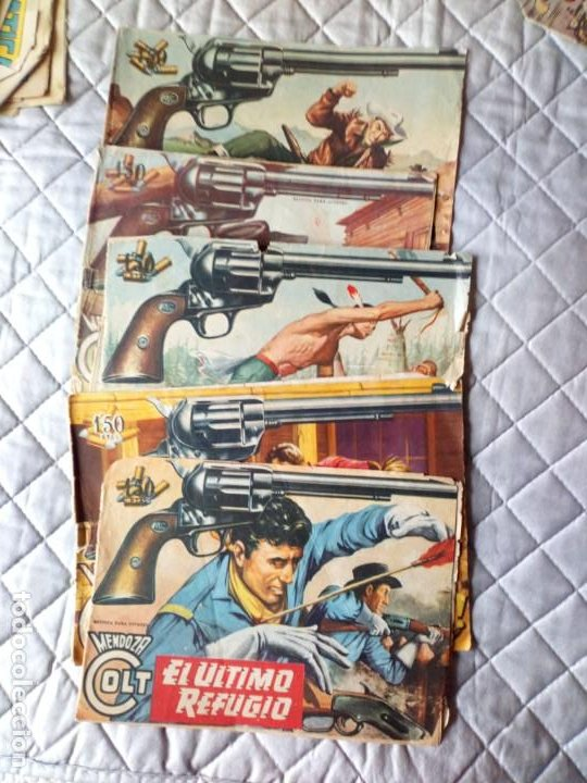 MENDOZA COLT LOTE 5 TEBEOS ORIGINALES ROLLAN (Tebeos y Comics - Rollán - Mendoza Colt)