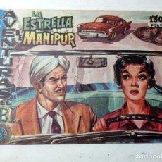 Tebeos: ORIGINAL NO COPIA AVENTURAS FBI LA ESTRELLA DE MANIPUR 215 AÑO 1959. Lote 263908730