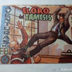 Tebeos: ORIGINAL NO COPIA AVENTURAS FBI EL ORO DEL TÁMESIS 212 AÑO 1958 EDITORIAL ROLLÁN. Lote 263909300