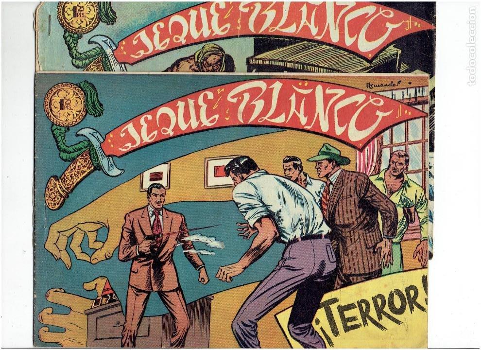 ARCHIVO *JEQUE BLANCO * Nº 5, 29, ORIGINAL * EDITORIAL ROLLAN 1952 * (Tebeos y Comics - Rollán - Jeque Blanco)