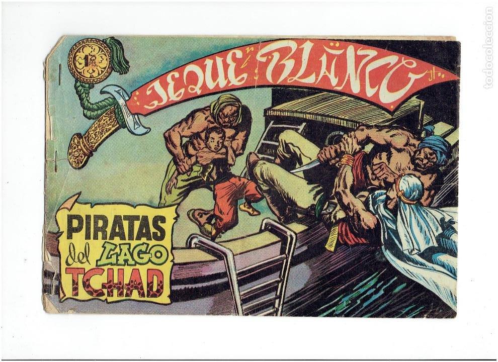 Tebeos: Archivo *JEQUE BLANCO * Nº 5, 29, ORIGINAL * EDITORIAL ROLLAN 1952 * - Foto 2 - 269474233