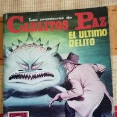 Tebeos: CARLITOS PAZ Nº10.(HISTORIAS GRÁFICAS PARA JÓVENES. SERIE ROJA Nº21): EL ÚLTIMO DELITO. Lote 274333223