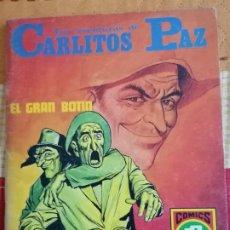 Tebeos: CARLITOS PAZ Nº4.(HISTORIAS GRÁFICAS PARA JÓVENES. SERIE ROJA Nº15): EL GRAN BOTÍN. Lote 274333468