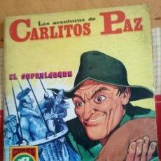 Tebeos: CARLITOS PAZ Nº2.(HISTORIAS GRÁFICAS PARA JÓVENES. SERIE ROJA Nº13): EL SUPERLADRÓN. Lote 274333738