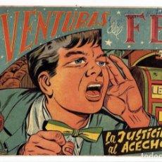 Tebeos: AVENTURAS DEL FBI Nº 165 - LA JUSTICIA AL ACECHO - ROLLÁN 1951 - ORIGINAL. Lote 284058593