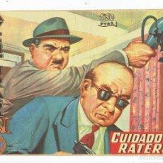 Tebeos: AVENTURAS DEL FBI Nº 187 - CUIDADO CON LOS RATEROS - ROLLÁN 1958 - ORIGINAL. Lote 284075388