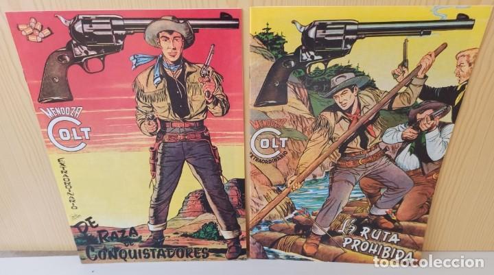 MENDOZA COLT EXTRAORDINARIO - 2 NUMEROS - DE RAZA DE CONQUISTADORES Y LA RUTA PROHIBIDA (Tebeos y Comics - Rollán - Mendoza Colt)