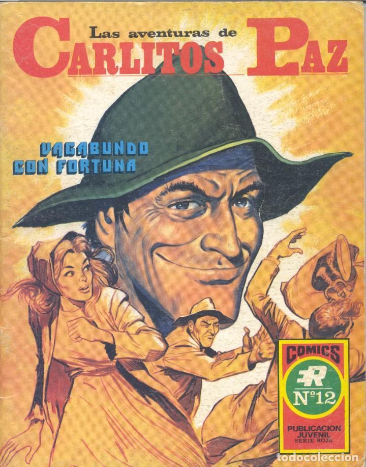CARLITOS PAZ Nº1 (SERIE ROJA 12). EDITORIAL ROLLÁN, 1973 (Tebeos y Comics - Rollán - Series Rollán (Azul, Roja, etc))