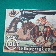Tebeos: MENDOZA COLT Nº 68. LOS APACHES NO SE RINDEN. EDITORIAL ROLLAN 1959.. Lote 288634798