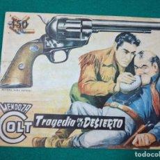 Tebeos: MENDOZA COLT Nº 60. TRAGEDIA EN EL DESIERTO. EDITORIAL ROLLAN 1959.. Lote 288635303