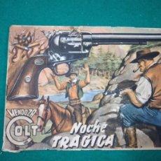 Tebeos: MENDOZA COLT Nº 15. NOCHE TRAGICA. EDITORIAL ROLLAN 1959.. Lote 288638068