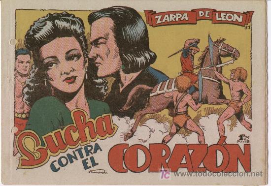 ZARPA DE LEON Nº 51 , TORAY 1949 POR FERRANDO (Tebeos y Comics - Toray - Zarpa de León)