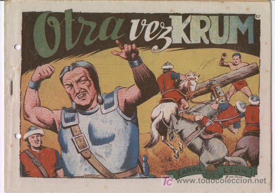 ZARPA DE LEON Nº 52 , 1949 POR FERRANDO (Tebeos y Comics - Toray - Zarpa de León)
