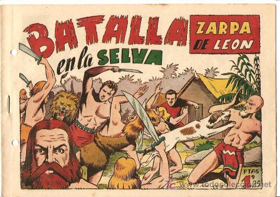 ZARPA DE LEON Nº 13 PERFECTO, EDI. TORAY 1949, ORIGINAL - POR FERRANDO (Tebeos y Comics - Toray - Zarpa de León)