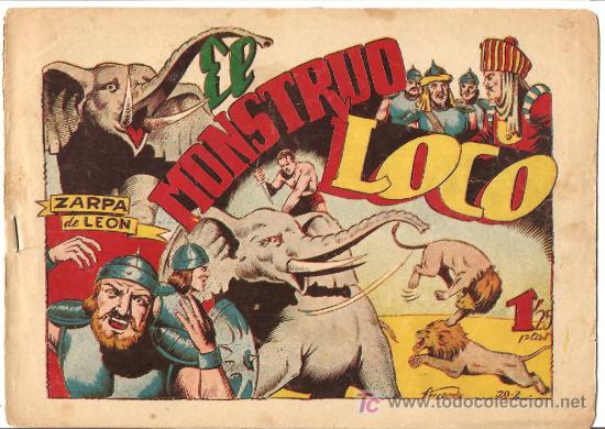 ZARPA DE LEON Nº 20, BUENO, EDI. TORAY 1949 (Tebeos y Comics - Toray - Zarpa de León)