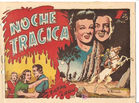 ZARPA DE LEON Nº 33 EXCELENTE, AÑO 1949, EDI. TORAY, ORIGINAL - DIBUJO DE FERRANDO (Tebeos y Comics - Toray - Zarpa de León)