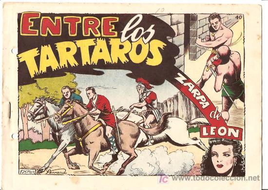 ZARPA DE LEON Nº 40 MUY NUEVO, ORIGINAL, EDI. TORAY 1949 - DIBUJO DE FERRANDO (Tebeos y Comics - Toray - Zarpa de León)