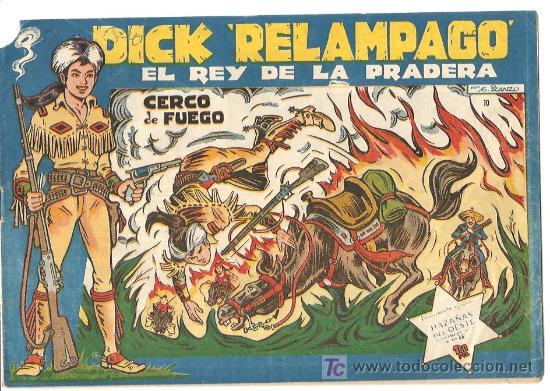 DICK RELAMPAGO Nº 10, BASTANTE , EDITORIAL TORAY 1960, POR JUAN GARCIA IRANZO (Tebeos y Comics - Toray - Dick Relampago)