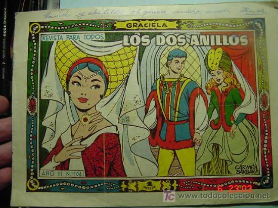 654 GRACIELA CUENTO DE HADAS LOS DOS ANILLOS AÑOS 1950 - COSAS&CURIOSAS (Tebeos y Comics - Toray - Graciela)