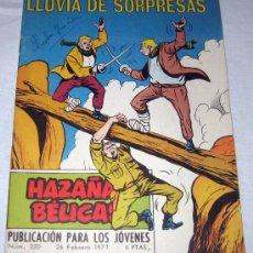 Tebeos: HAZAÑAS BELICAS Nº 320 - LLUVIA DE SORPRESAS - AÑO 1971 - EDICIONES TORAY - . Lote 11846297