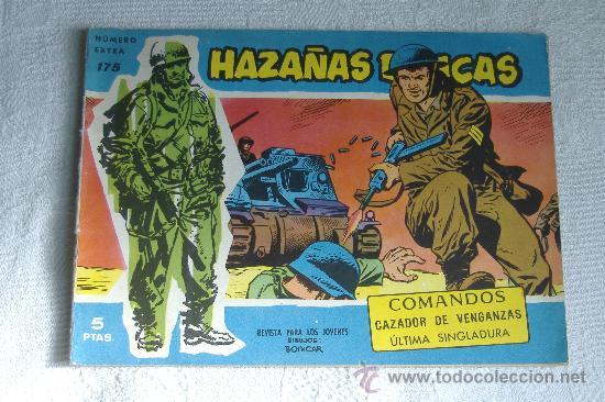 HAZAÑAS BELICAS AZUL Nº 175, DIBUJOS BOIXCAR (Tebeos y Comics - Toray - Hazañas Bélicas)