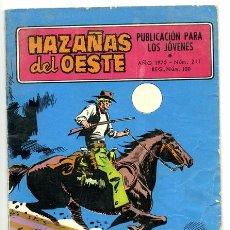 Tebeos: HAZAÑAS DEL OESTE. Nº 211 DE 1970 . ED. TORAY. Lote 8538942