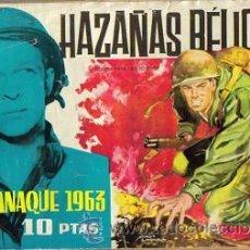 Tebeos: HAZAÑAS BELICAS ALMANAQUE 1963 (TORAY) ORIGINAL 1963. Lote 26874136