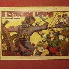 Tebeos: EL CAPITAN CORAJE 1ª EDICION (TORAY - 1946). ¡¡ DIFICIL !!. Lote 25841377