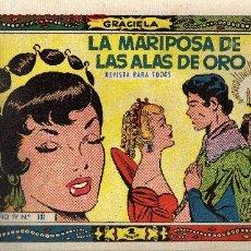 BDs: COLECCION GRACIELA Nº181 LA MARIPOSA DE LAS ALAS DE ORO. Lote 2175087