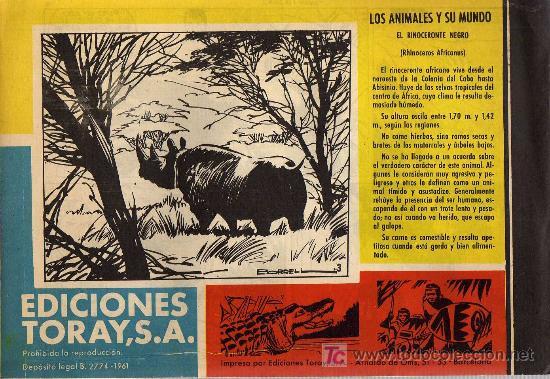 Tebeos: TAMAR - Nº 3 - BORRELL/ACEDO - EDICIONES TORAY 1961 - ORIGINAL, NO FACSIMIL - Foto 2 - 11313493