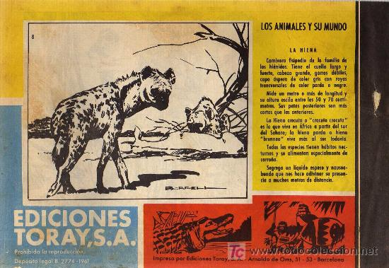 Tebeos: TAMAR - Nº 8 - BORRELL/ACEDO - EDICIONES TORAY 1961 - ORIGINAL, NO FACSIMIL - Foto 2 - 11313482