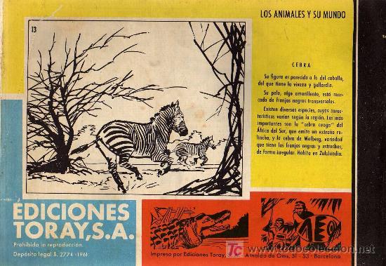 Tebeos: TAMAR - Nº 13 - BORRELL/ACEDO - EDICIONES TORAY 1961 - ORIGINAL, NO FACSIMIL - Foto 2 - 11313465