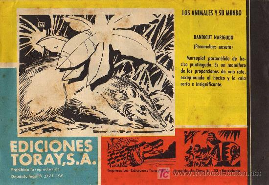 Tebeos: TAMAR - Nº 127 - BORRELL/ACEDO - EDICIONES TORAY 1961 - ORIGINAL, NO FACSIMIL - Foto 2 - 11313323