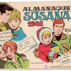 Tebeos: SUSANA ORIGINAL ALMANAQUE 1962. Lote 11336389