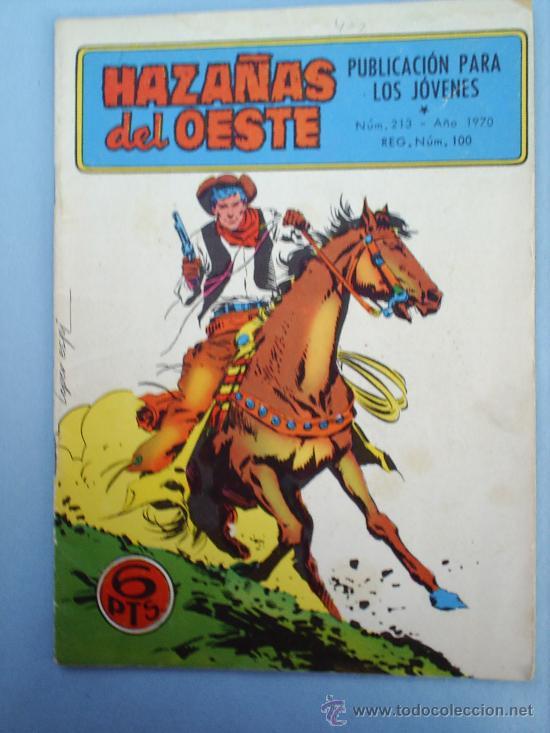HAZAÑAS DEL OESTE-N.213-1970-TORAY (Tebeos y Comics - Toray - Hazañas del Oeste)