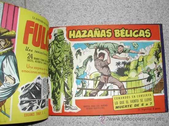Tebeos: HAZAÑAS BELICAS EXTRA ROJO GORILA JOHNNY COMANDO TORAY TOMO EDITORIAL CON OCHO NºS - Foto 2 - 25726384