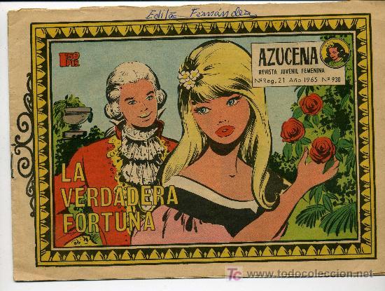COLECCION AZUCENA Nº 930 AÑO 1965 (Tebeos y Comics - Toray - Azucena)
