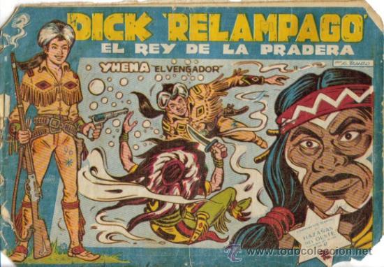 Tebeos: DICK RELAMPAGO EL REY DE LA PRADERA ( TORAY ) ORIGINAL 1960 LOTE - Foto 2 - 26924351