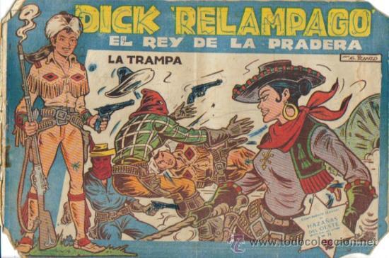 Tebeos: DICK RELAMPAGO EL REY DE LA PRADERA ( TORAY ) ORIGINAL 1960 LOTE - Foto 3 - 26924351