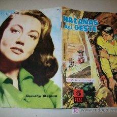Tebeos: HAZAÑAS DEL OESTE - Nº 56 - TORAY - 1959 - DOROTHY MALONE. Lote 24670048