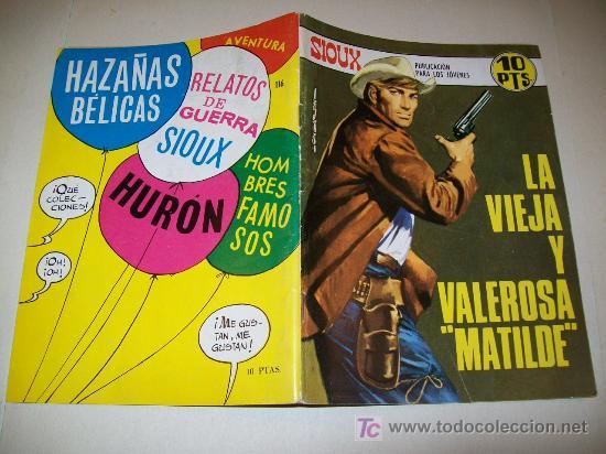SIOUX - Nº 116 - TORAY - 1968 - MUY BUENO - DEFINITIVO (Tebeos y Comics - Toray - Sioux)