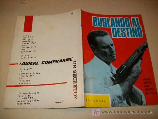 LC 101 - ESPIONAJE - TORAY - Nº 15 - 1966 - EJEMPLAR DEFINITIVO (Tebeos y Comics - Toray - Espionaje)