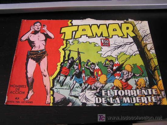 TAMAR Nº 43 EDICIONES TORAY ORIGINAL 1961 (Tebeos y Comics - Toray - Tamar)