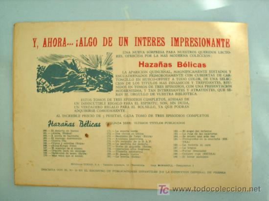 Tebeos: HAZAÑAS BELICAS N.190 BOIXCAR ,EL HEROE ANONIMO - TORAY - Foto 2 - 25281822